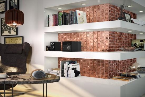 Mozaika szklana mozaika pod prysznic mozaika do łazienki kuchni mozaika na podłoge mozaika na ściane  24x24 mosiądz efekt trójwymiarowy