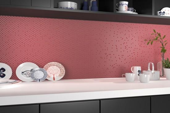 Mozaika do łazienki kuchni mozaika na ścianę mozaika na podłogę mozaika pod prysznic czerwona 28x28