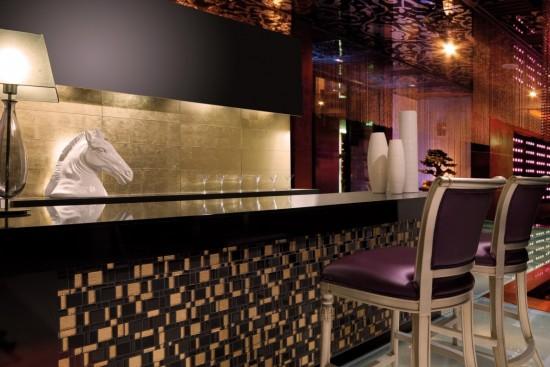 Mozaika szklana mozaika pod prysznic mozaika do łazienki kuchni mozaika na podłogę mozaika na ściane 29x29 Mozaika w złocisto czarnych odcieniach prostokąty