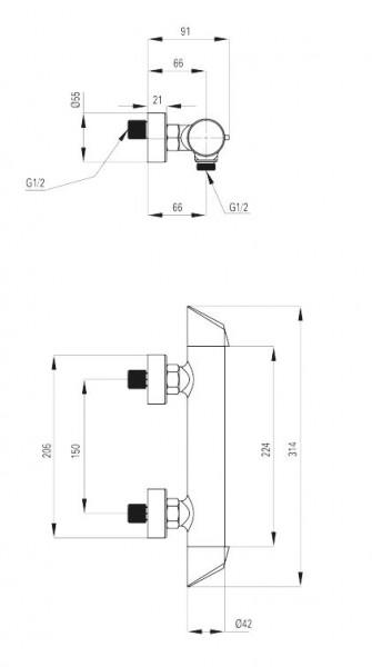 Bateria natryskowa Arnika BQA 040M