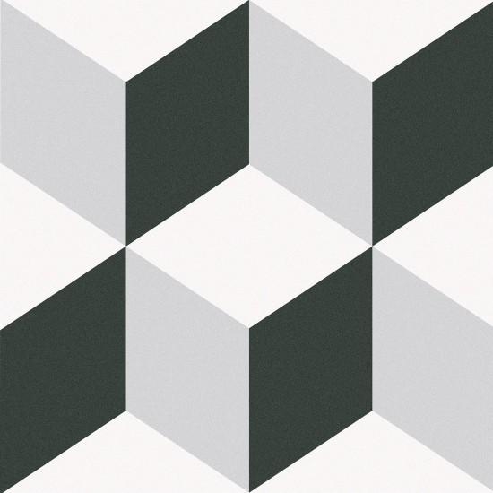 Keros płytka na podłoge płytka patchwork czarno biała płytka 25x25
