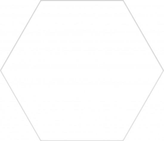 białe heksagony satynowe
