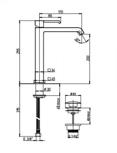 Piani bateria umywalkowa chrom wysoka bateria do łazienki bateria stojąca srebna bateria nowoczesna łazienka
