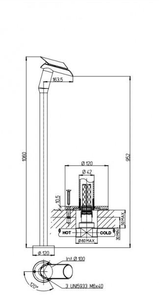 Paini bateria umywalkowa stojąca bateria do łazienki bateria umywalkowa chrom