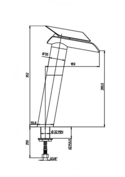 Paini Bateria umywalkowa wysoka bateria do łazienki chrom nowoczesna łazienka