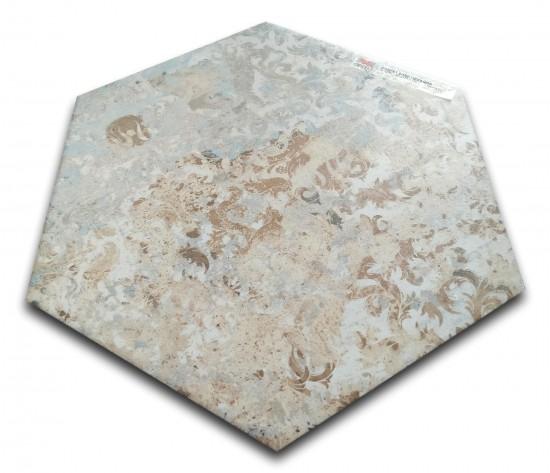 płytki aparici carpet heksagon sand heksagony na podłogę
