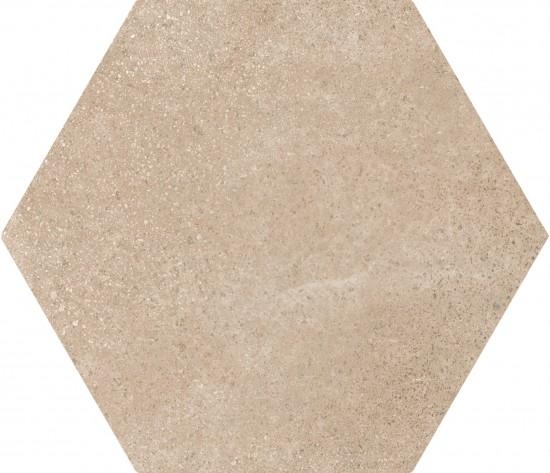 hexagon kafelki na ściane podłoge 17,5x20 płytki do łazienki salonu kuchni matowe beżowe