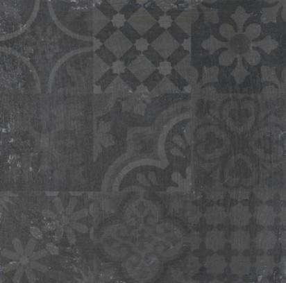 Roca czarne płytki na podłoge ściane satynowe 60x60  płytki czarne ze wzorem patchwork