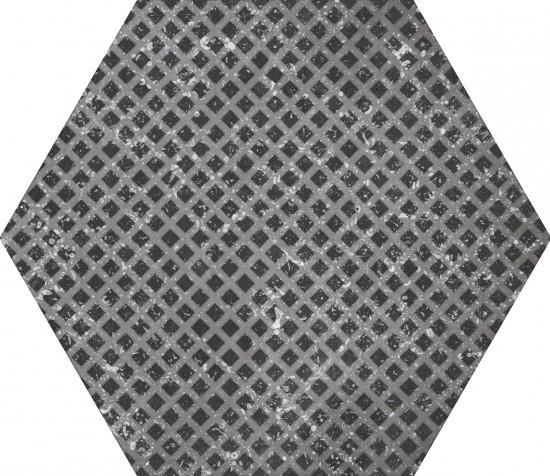 equipe hexagon czarny matowy na sciane podłoge 25x29 płytki do łazienki kuchni