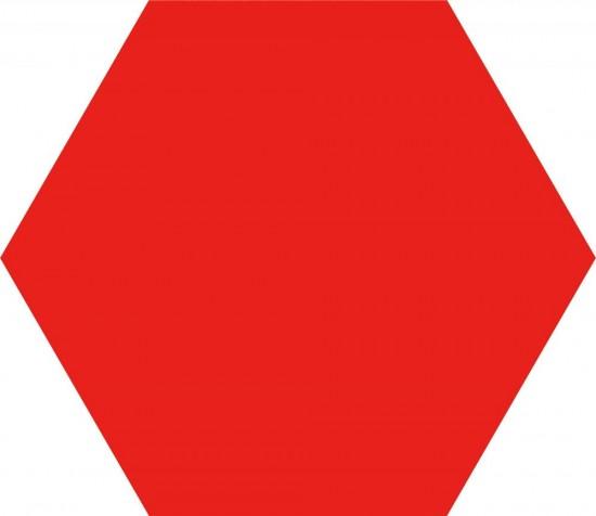 czerwony heksagon płytki na ściane podłoge  satynowe gres nowoczesna łazienka salon