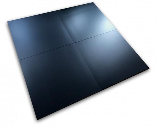 czarne płytki do salonu roca pure black 60x60