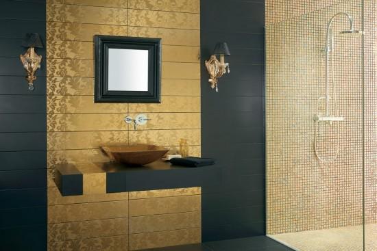 Mozaika szklana mozaika pod prysznic mozaika do łazienki kuchni mozaika na podłoge mozaika na ściane złota 30x30