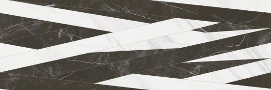 dekor biało czarny 40x120