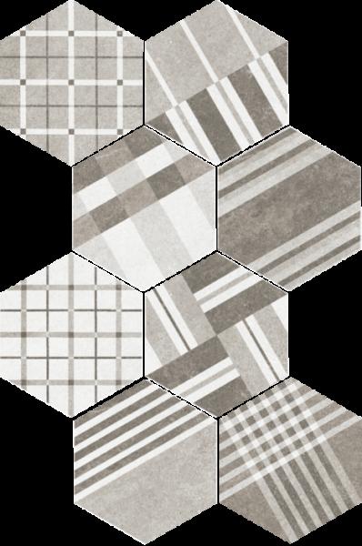 Hexatile Cement Geo Grey 17,5x20