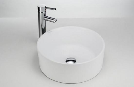 Massi ceramika biała umywalka nablatowa okrągła nowoczesna łazienka