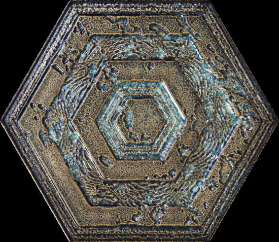 płytki heksagon złote