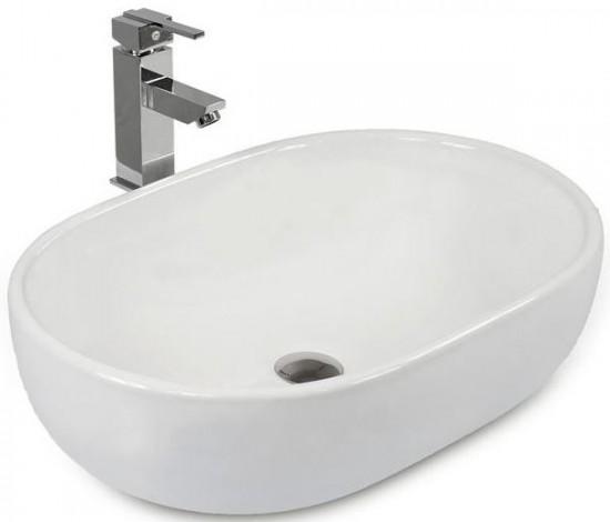 Massi białą umywalka nablatowa owalna nowoczesna łazienka