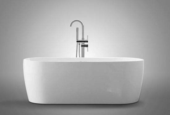 Massi wanna wolnostojąca owalna biała akrylowa nowoczesna elegancka łazienka
