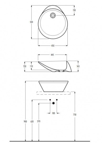 Eto umywalka nablatowa umywalka do łazienki ceramika łazienka nowoczesna łazienka