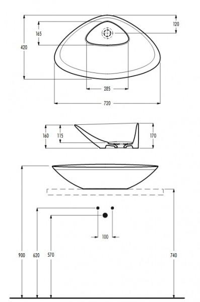 eto umywalka nablatowa umywalka do łazienki nowoczesna łazienka ceramika łazienka