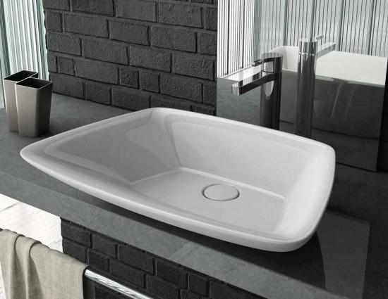Eto umywalka nablatowa umywalka do łazienki łazienka ceramika