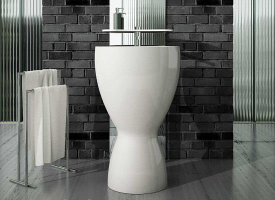 Eto umywalka wolnostojąca biała umywalka ceramika łazienka elegancka łazienka
