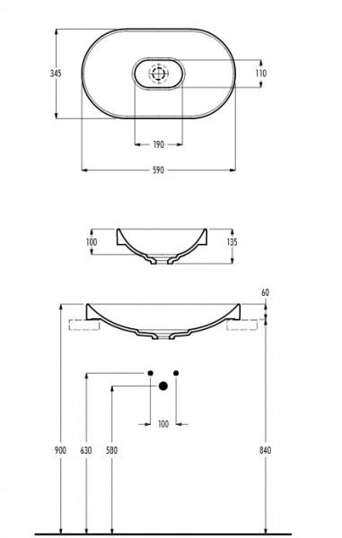 eto umywalka nablatowa umywalka owalna umywalka ceramika łazienka