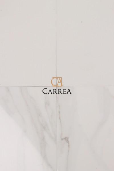 rektyfikowany biały gres imitujące naturalny kamień carrara navarti Forum Blanco
