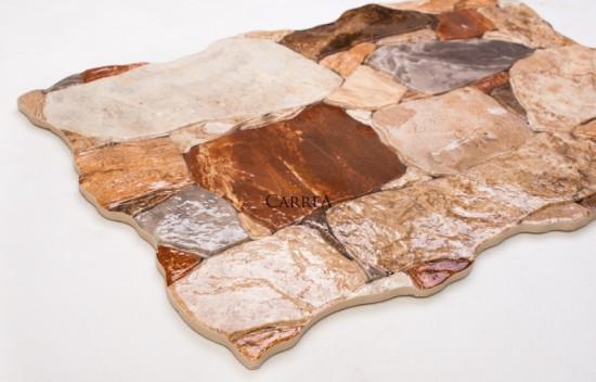 brązowy gres na elewację petra crema