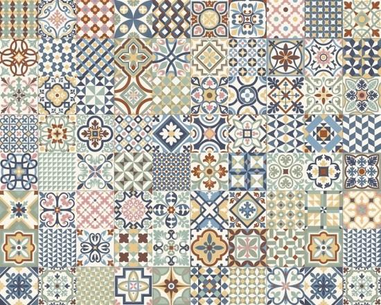 gayafores heritage mix 33x33 płytki patchwork do łazienki podłogowe ceramiczne kolorowy patchwork