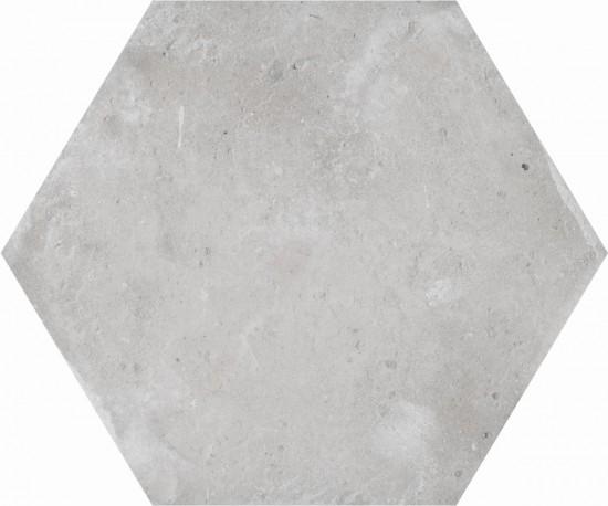 płytki heksagonalne szare