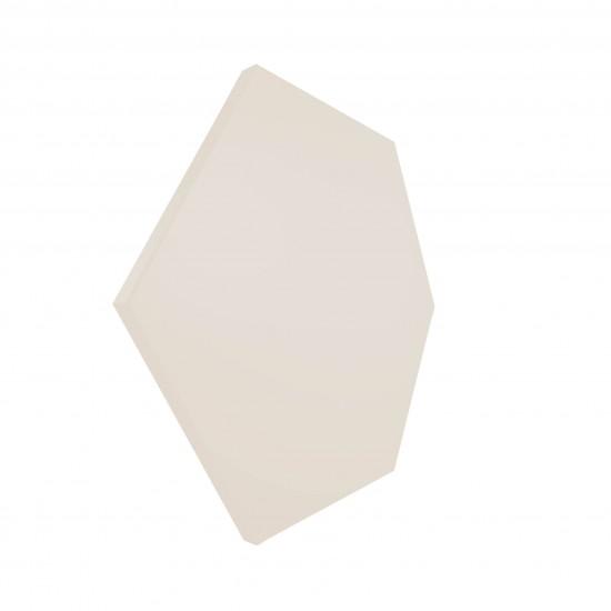 wow design bezowy heksagon na ściane