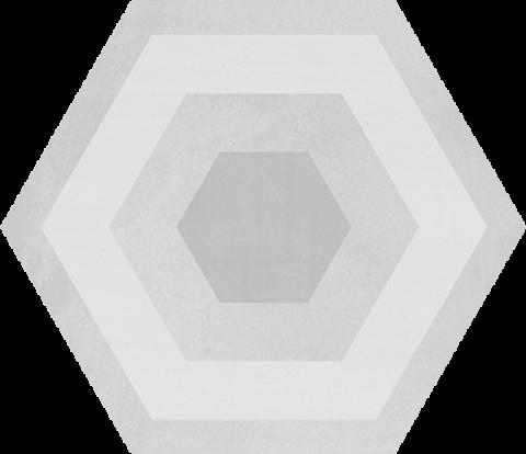 płytki scienne podłogowe hexagonalne szare STARKHEX Gris Decor MIX geotiles
