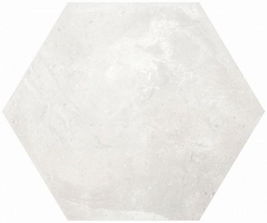 heksagon biały