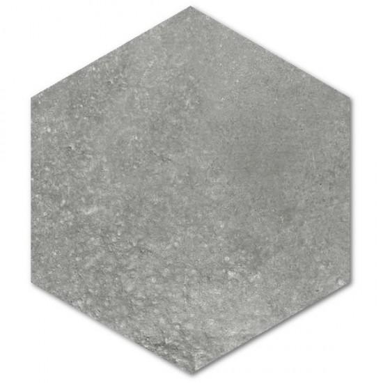 Vives płytki hexagonalne surowy beton 23x26,6 na podłoge ściane szare matowe płytki do łazienki salonu kuchni