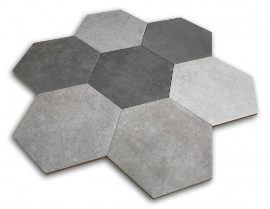 heksagon na podłogę hiszpańskie heksagony Hexagon Multi Cold Argenta