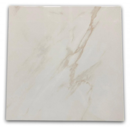 płytki marmurkowe z brązową smugą Calacatta Blanco Geotiles