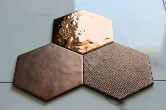 Heksagon dekoracyjny na ścianę