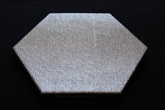 Heksagon dekoracyjny srebny