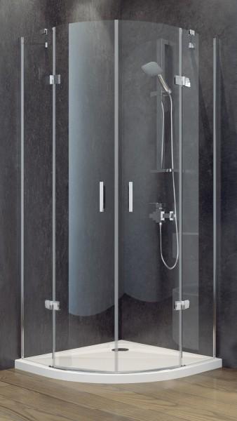 Besco kabina prysznicowa półokrągła  90x90x195