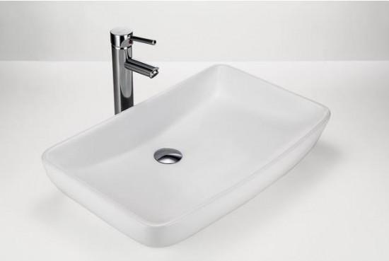 Massi ceramika biała umywalka nablatowa prostokątna  nowoczesna łazienka