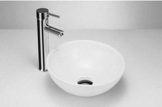 Massi ceramika biała okrągła umywalka nablatowa