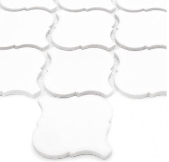 Dunin biała mozaika na ściane połysk nowoczesna łaziennka kuchnia salon kafleki na ściasne mozaika do lazienki