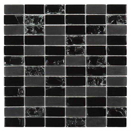 Dunin czarna mozaika do łazienki szklana mozaika czarna mozaika