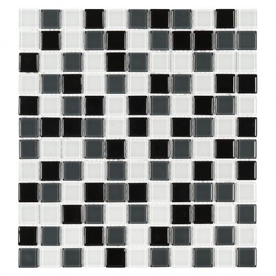 Dunin mozaika szklana 30x30  mozaika czarno biała