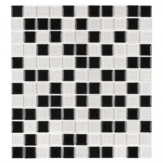 Dunin mozaika szklana mozaika czarno biała 30x30