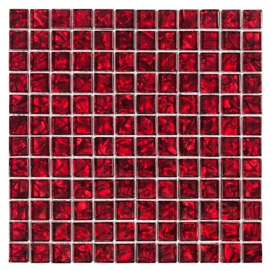 Dunin czerwona mozaika szklana 30x30