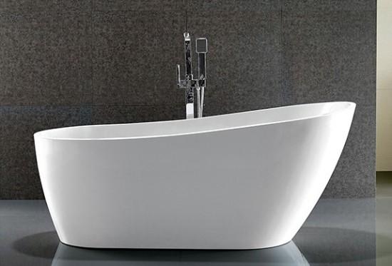 Massi biała wanna wolnostojąca okalana nowoczesna klasyczna łazienka
