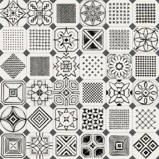 Vives płytki na podłoge ściane matowe czarno białe 20x20 płytki do łazienki kuchni salonu nowoczesna klasyczna łazienka