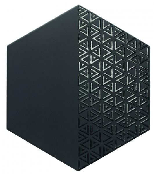 płytki heksagonalne czarne